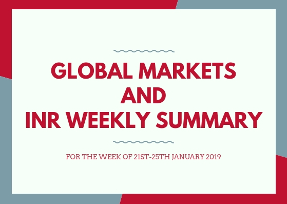 GLOBAL MARKETS AND INR WEEKLY SUMMARY (21st-25Th January,2019)