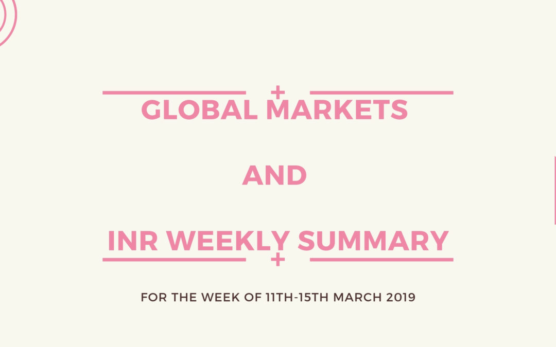 GLOBAL MARKETS AND INR WEEKLY SUMMARY (11th-15th March 2019)