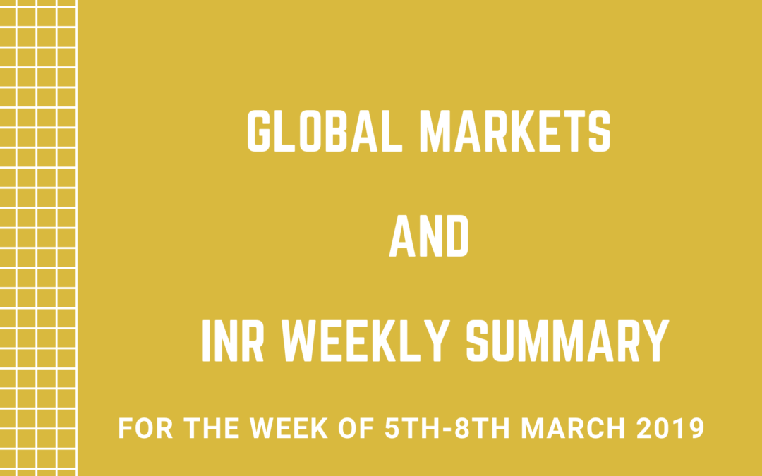 GLOBAL MARKETS AND INR WEEKLY SUMMARY (5th-8th March 2019)