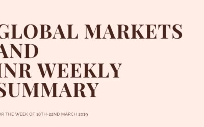 GLOBAL MARKETS AND INR WEEKLY SUMMARY (18th-22nd March 2019)