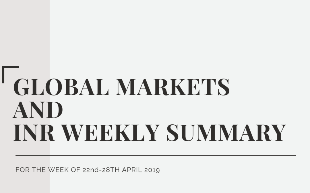 GLOBAL MARKETS AND INR WEEKLY SUMMARY (22nd-26th April 2019)